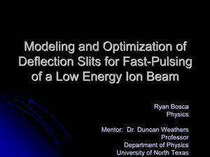 Primary view of object titled 'Modeling and Optimization of Deflection Slits for Fast-Pulsing of a Low Energy Ion Beam'.