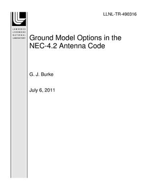 Primary view of object titled 'Ground Model Options in the NEC-4.2 Antenna Code'.