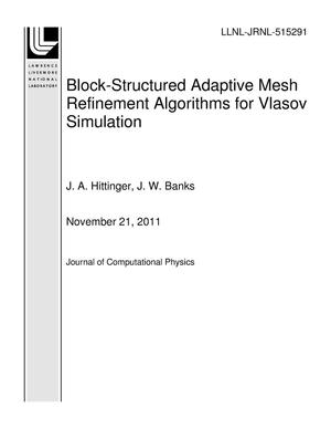 Primary view of object titled 'Block-Structured Adaptive Mesh Refinement Algorithms for Vlasov Simulation'.
