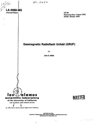 Primary view of object titled 'Geomagnetic radioflash unfold (GRUF)'.