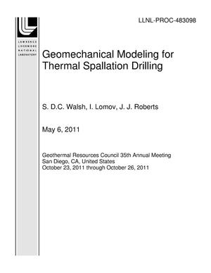Primary view of object titled 'Geomechanical Modeling for Thermal Spallation Drilling'.