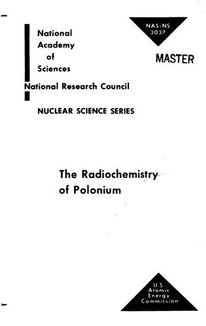 Primary view of object titled 'THE RADIOCHEMISTRY OF POLONIUM'.