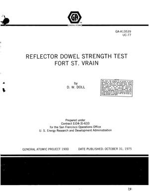 Primary view of object titled 'Reflector dowel strength test, Fort St. Vrain'.
