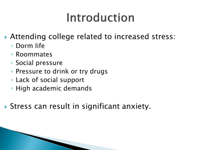 effects of stress to the college The effects of stress on college students nationwide around 182 million to 197 million students enroll in college every year about 7,000 students drop out every day.