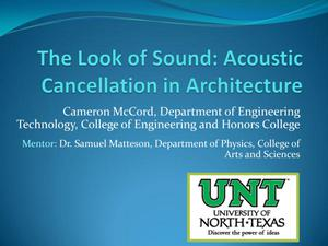Primary view of object titled 'The Look of Sound: Acoustic Cancellation in Architecture'.