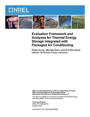 Primary view of object titled 'Evaluation Framework and Analyses for Thermal Energy Storage Integrated with Packaged Air Conditioning'.