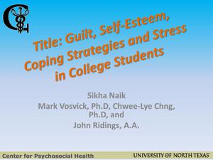 Guilt, Self-Esteem, Coping Strategies and Stress in College Students