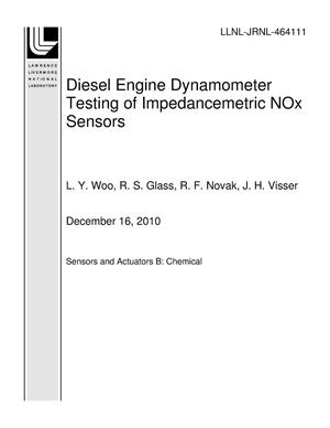 Primary view of object titled 'Diesel Engine Dynamometer Testing of Impedancemetric NOx Sensors'.
