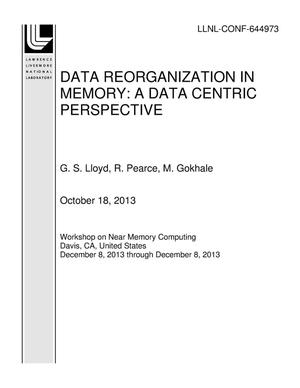 Primary view of object titled 'DATA REORGANIZATION IN MEMORY: A DATA CENTRIC PERSPECTIVE'.