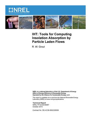 Primary view of object titled 'IHT: Tools for Computing Insolation Absorption by Particle Laden Flows'.