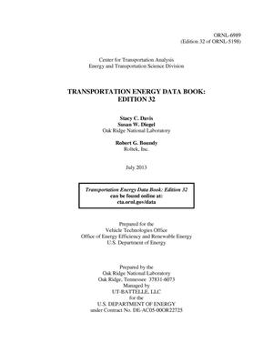 Primary view of object titled 'Transportation Energy Data Book: Edition 32'.