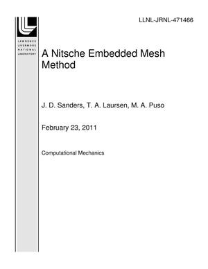 Primary view of object titled 'A Nitsche Embedded Mesh Method'.