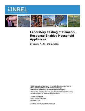 Primary view of object titled 'Laboratory Testing of Demand-Response Enabled Household Appliances'.