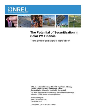 Primary view of object titled 'Potential of Securitization in Solar PV Finance'.