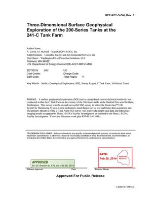 Primary view of object titled 'Three-Dimensional Surface Geophysical Exploration of the 200-Series Tanks at the 241-C Tank Farm'.