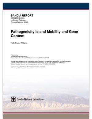 Primary view of object titled 'Pathogenicity island mobility and gene content.'.