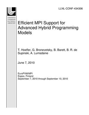 Primary view of object titled 'Efficient MPI Support for Advanced Hybrid Programming Models'.