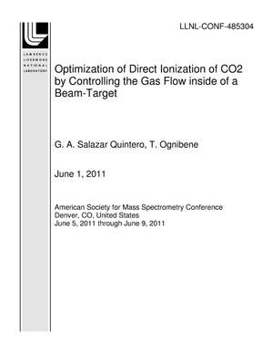Primary view of object titled 'Optimization of Direct Ionization of CO2 by Controlling the Gas Flow inside of a Beam-Target'.