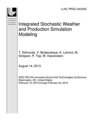 Primary view of object titled 'Integrated Stochastic Weather and Production Simulation Modeling'.