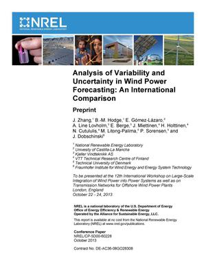 Primary view of object titled 'Analysis of Variability and Uncertainty in Wind Power Forecasting: An International Comparison: Preprint'.