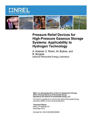 Primary view of object titled 'Pressure Relief Devices for High-Pressure Gaseous Storage Systems: Applicability to Hydrogen Technology'.