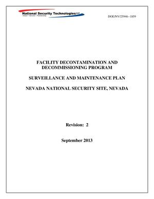 Primary view of object titled 'Facility Decontamination and Decommissioning Program Surveillance and Maintenance Plan, Revision 2'.