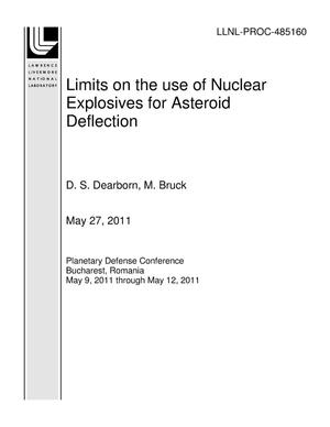 Primary view of object titled 'Limits on the use of Nuclear Explosives for Asteroid Deflection'.