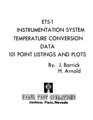 Primary view of object titled 'ETS-1 instrumentation system temperature conversion data. 101 point listings and plots'.