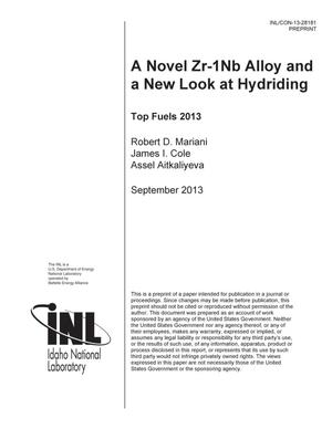 Primary view of object titled 'A Novel Zr-1Nb Alloy and a New Look at Hydriding'.