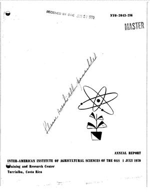 Primary view of object titled 'RADIATION BOTANY AND PLANT GENETICS.'.