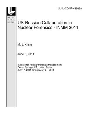 Primary view of object titled 'US-Russian Collaboration in Nuclear Forensics - INMM 2011'.
