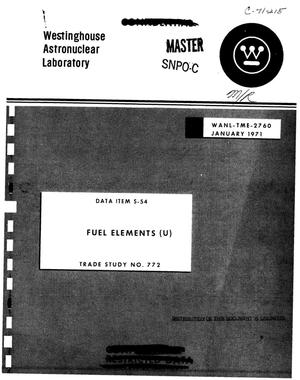 Primary view of object titled 'Fuel elements'.