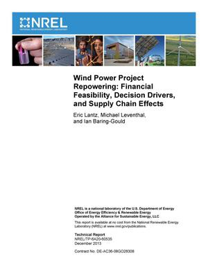 Primary view of object titled 'Wind Power Project Repowering: Financial Feasibility, Decision Drivers, and Supply Chain Effects'.