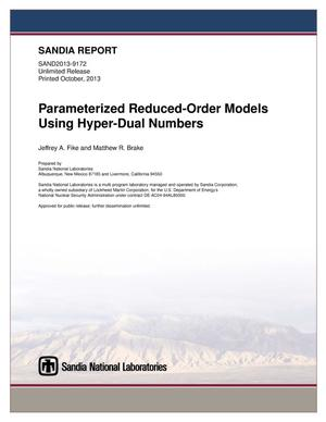 Primary view of object titled 'Parameterized reduced-order models using hyper-dual numbers.'.