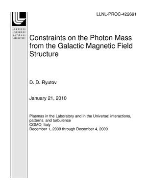 Primary view of object titled 'Constraints on the Photon Mass from the Galactic Magnetic Field Structure'.