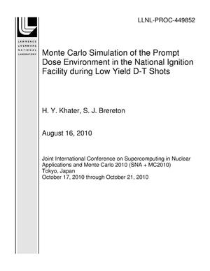 Primary view of object titled 'Monte Carlo Simulation of the Prompt Dose Environment in the National Ignition Facility during Low Yield D-T Shots'.