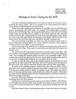 Primary view of object titled 'Musings on Event Timing for the ATR'.