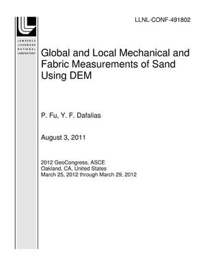 Primary view of object titled 'Global and Local Mechanical and Fabric Measurements of Sand Using DEM'.