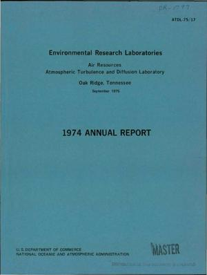 Primary view of object titled '1974 annual report'.