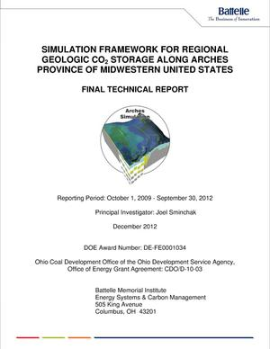 Primary view of object titled 'SIMULATION FRAMEWORK FOR REGIONAL GEOLOGIC CO{sub 2} STORAGE ALONG ARCHES PROVINCE OF MIDWESTERN UNITED STATES'.