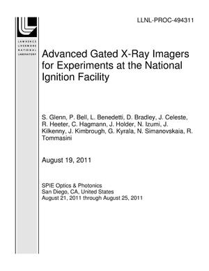 Primary view of object titled 'Advanced Gated X-Ray Imagers for Experiments at the National Ignition Facility'.