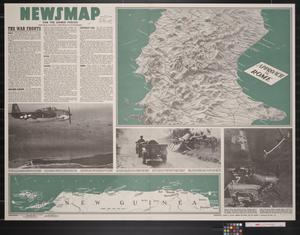 Primary view of object titled 'Newsmap. For the Armed Forces. 247th week of the war, 129th week of U.S. participation'.