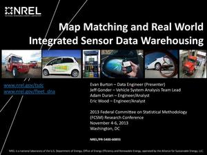 Primary view of object titled 'Map Matching and Real World Integrated Sensor Data Warehousing (Presentation)'.