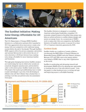 Primary view of object titled 'SunShot Initiative: Making Solar Energy Affordable for All Americans (Fact Sheet)'.