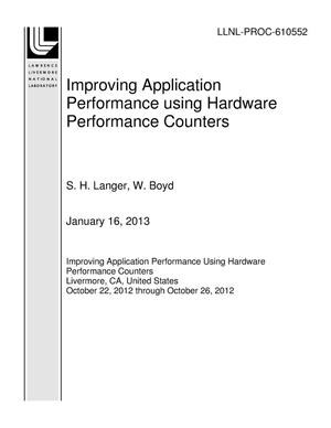 Primary view of object titled 'Improving Application Performance using Hardware Performance Counters'.