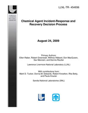 Primary view of object titled 'Chemical Agent Incident-Response and Recovery Decision Process'.