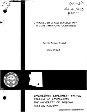 Primary view of object titled 'DYNAMICS OF A FAST REACTOR WITH IN-CORE THERMIONIC CONVERTERS. Fourth Annual Report, September 1, 1969--August 31, 1970.'.
