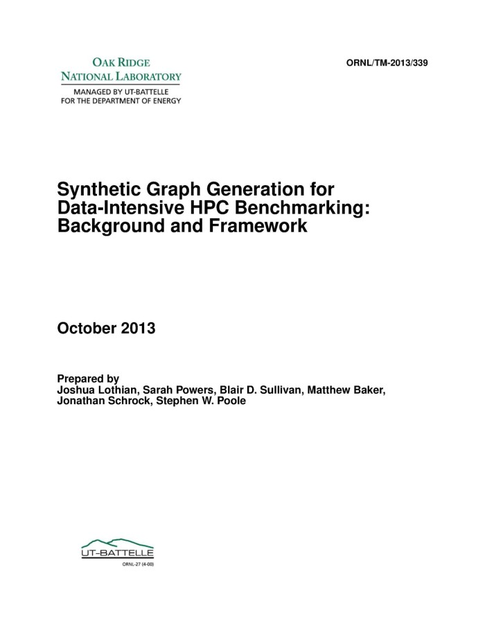 graph generator survey digital library