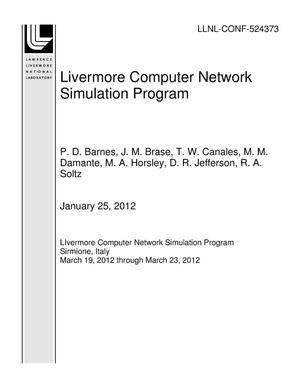 Primary view of object titled 'Livermore Computer Network Simulation Program'.