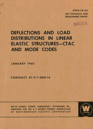 Primary view of object titled 'DEFLECTIONS AND LOAD DISTRIBUTIONS IN LINEAR ELASTIC STRUCTURES--CTAC AND MODE CODES'.